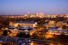 """UNCG...I miss college. Great shot of Greensboro """"after dark"""""""