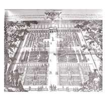 Wilton Garden- book c1650 w etchings showing geometrical garden designs