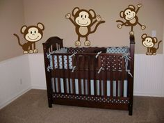 Monkeys Wall Decals Sticker Nursery Decor Art Mural Wall Decals By Digiflare Graphics,http://www.amazon.com/dp/B004VIGENY/ref=cm_sw_r_pi_dp_dgSbtb1S1NJFX5TS
