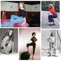 Icônes en jean | Mode| Vogue >> Jane Birkin, Elisabeth Taylor, Kate Moss, Farrah Fawcett