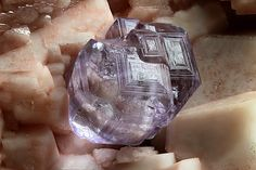 4.67 mm complex purple Fluorite crystal   Crystals are the outer form of a mineral's inner order. Nearly every piece of rock of Earth is ...