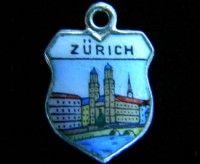 ZURICH SWITZERLAND 800 SILVER TRAVEL SHIELD