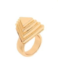 our gold pyramid ring!