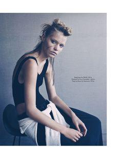 visual optimism; fashion editorials, shows, campaigns & more!: sport couture: kirstin kragh liljegren by henrik bülow for eurowoman february 2014