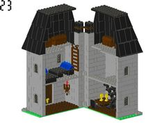 LEGO® Building Instruction - 60026 Middle Ages Townhouse - reminds me of the Blacksmith's house Lego Creations, Middle Ages, Lego Hogwarts, Build A Better World, Lego Castle, Townhouse, Lego Projects, Custom Lego, Lego Instructions