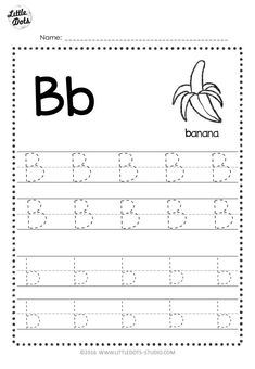 Free Letter B Tracing Worksheets Free Printable Alphabet Worksheets, Alphabet Writing Worksheets, Pre K Worksheets, Letter Worksheets For Preschool, Alphabet Tracing, Letra Script, Learning Websites For Kids, Prewriting Skills, English