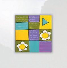 SALVADORIARTE dipinto a mano - quadro 28x28 - decorazione arredo casa aforisma E