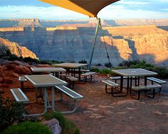 This Regal Style Rectangular Picnic Table sure looks regal at the Grand Canyon