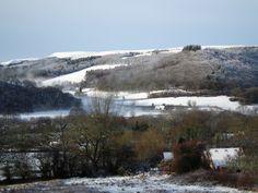 Early snow in Rhandir-mwyn, Wales