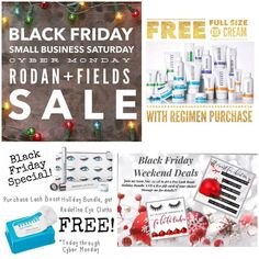 Are you Holiday shopping this weekend? No need to stand in line! Shop at my Rodan + Fields online store from the comfort of your own home! All offers are good thru Monday, 11/28 at 11:59 pm!  $20 Cash Back for New Preferred Customers Free Eye Cream with purchase of a Regimen Free Eye Cloths with Lash Boost purchase Free Lash Boost and $50 Gift Card of your choice for joining my team with a Business Kit Preferred Customers get 10% off and FREE SHIPPING!! Message me!