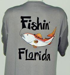 Short Sleeve UPF 50 Dri Fit  Performance Shirt: Fishin' Florida: Redfish