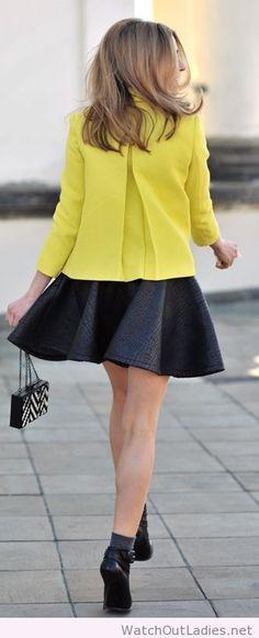 Zara yellow tweed jacket