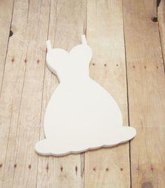 Wedding Dress Cutouts-Bridal Shower Decor-Wedding Advice