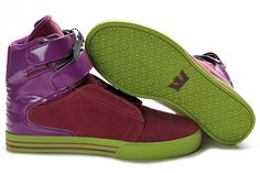 2012 Supra Society Shoes Purple Lime Green For Sale
