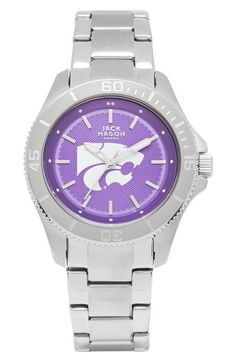 Jack Mason Brand 'Kansas State Wildcats' Bracelet Watch, 44mm