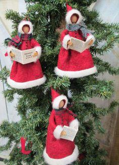 Christmas Caroller Ornament Handmade by ModerationCorner on Etsy