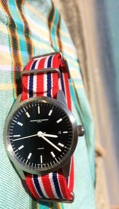 L1 timepiece by Maurice de Mauriac with the Union Jack Nato strap. Handmade watches and accessories for men and women.
