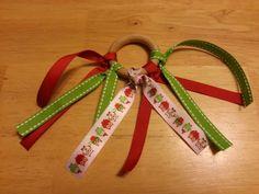 Christmas teether ring for stocking stuffer