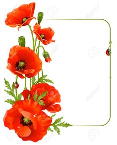 red poppy flower clipart - Google Search Use something like this for table numbers