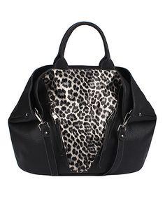 Look what I found on #zulily! Black Leopard Tote #zulilyfinds