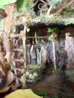 The Little Fairy's House in the Woods sculptural by Sunflowerhouse