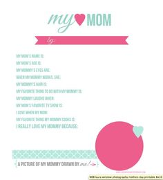 Dear Mom Free Mothers Day Printable  TyxgbAjThis Homemade