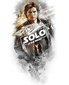 Awesome NEW #HanSolo Poster FLYING SOLO by renowned #StarWars Artist @steveandersondesign This Officially licensed limited edition #lithographprint is available through #AcmeArchives & #DarkInkArt Thursday May 24 at 12.01am PT @acmearchives @darkinkart #CoolArt #Art #Print #StarWars #Solo #SoloMovie #SoloAStarWarsStory #HanSolo #AldenEhrenreich