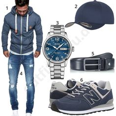 Blaues Herrenoutfit mit Hoodie, Jeans und Cap Blue mens outfit with hoodie, jeans and cap Business Casual Attire For Men, Men Casual, Mode Man, Herren Outfit, Men Style Tips, Mens Fashion, Fashion Outfits, Well Dressed Men, Casual Fall Outfits