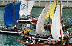 Corrida de barcos rabelo - tradicional boat race @ #Oporto #Portugal (photo by José Paulo Andrade)