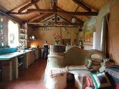 Cob in Bulgaria -Susan Hagan in the kitchen of her cob house in Bulgaria