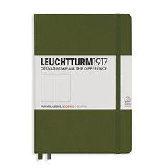 Amazon.com : Leuchtturm Medium Hardcover Dots Army : Office Products