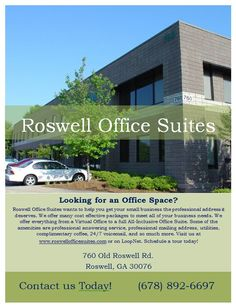 Come See us for that Office Space you have been wanting! Half off your first month's rent all through march with new office leases! Expires 3/31/15