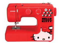 Janome 13512 Red Hello Kitty Sewing Machine....I need it!