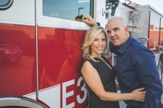 Jenna + Bryan Fire Station Engagement Session by Charla Blue Photography