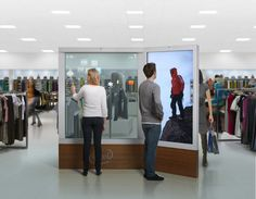 Retail Technology | The Future of Retail | Augmented Reality Display in a fashion store
