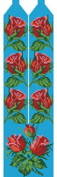 Cross Stitch Cushion, Cross Stitch Rose, Bead Crafts, Jewelry Crafts, Diy And Crafts, Seed Bead Flowers, Beaded Flowers, Loom Beading, Beading Patterns