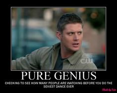 """If you haven't YouTubed """"Eye of the Tiger"""" by Dean Winchester...do it...NOW!"""