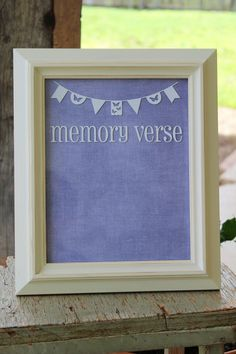 Youth Memory Verse Dry Erase Frame by SimpleFaithShop on Etsy, $29.99