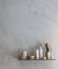 Tuesday shelfie by Available in several sizes, with brackets in brass, stainless steel or black powdercoated metal.