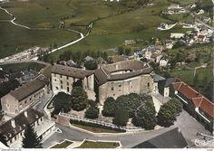 Saint Alban sur Limagnole - CPSM St-Alban-sur-Limagnole vue aérienne ancien château féodal