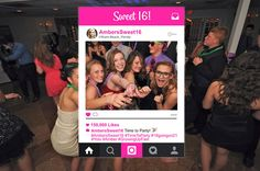 Sweet 16 Birthday Photo Booth Props Instagram  16th Party