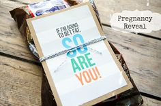 As super fun way to reveal your pregnancy to a spouse or significant other by Craftaholics Anonymous! Includes a free printable! {simplykierste.com}