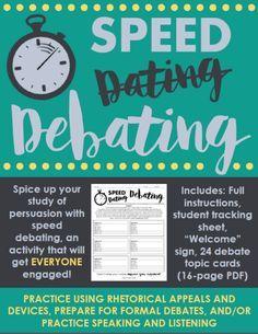 Speed Debating: Engaging Activity to Practice Debate, Ethos, Pathos, & Logos Argumentative Writing, Persuasive Writing, Teaching Writing, Teaching Strategies, Teaching Ideas, Teaching Resources, Teaching Tools, Avid Strategies, Teaching Kindness
