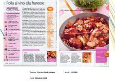 "Pollo al Vino alla francese - ""Cucina No Problem"" Ottobre 2004"