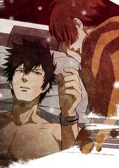 Kogami and akane - Psycho-pass All Anime, Anime Love, Anime Manga, Anime Art, Anime Couples, Cute Couples, Kogami Shinya, Psycho Pass, Mutual Respect