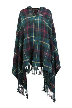 Cape in Check Print - US$19.95 -YOINS