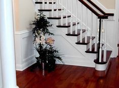 Cherry wood floors and staircase!