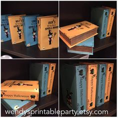 Personalised Witches Spell Book / Halloween Treat Boxes /