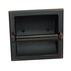 Designers Impressions Oil Rubbed Bronze Recessed Toilet / Tissue Paper Holder All Metal Contruction - Mounting Bracket Included