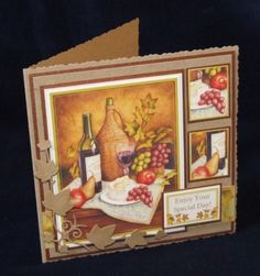 Joanna Sheen project - Gorgeous warm picture which would be great for male or female cards - quick design point, doesn't our ivy Signature die look brilliant diecut in Kraft card? Special Day, Cardmaking, Anna, Frame, Card Ideas, Projects, Cards, Picture Frame, Log Projects